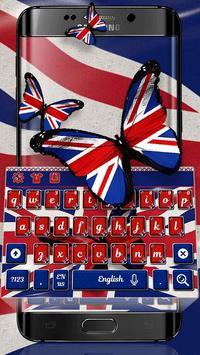 British Flag Keyboard Theme screenshot 2