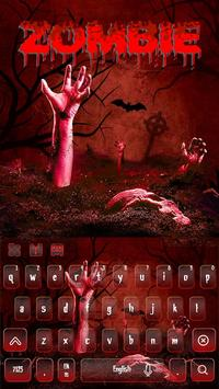 Bloody Zombie Keyboard Theme poster