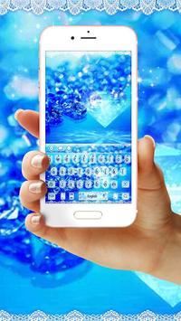 Blue ice Diamond Lace Keyboard poster