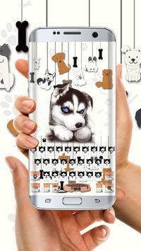 Cute dog skin for keyboard poster