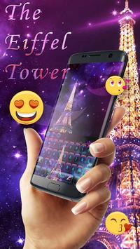 Purple Neon Eiffel Tower Keyboard apk screenshot