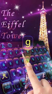 Purple Neon Eiffel Tower Keyboard screenshot 2