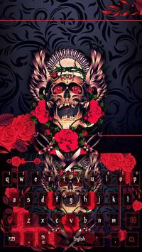 Rose skeleton beautiful keyboard apk screenshot
