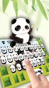 Lovely panda keyboard poster