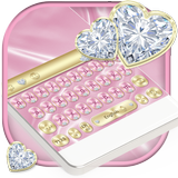 Luxury Pink Silk & Diamonds Keyboard