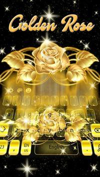 Gold Rose Keypad poster