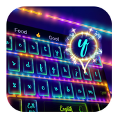 Neon Night Fireworks Keyboard icon