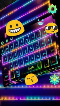 Neon Night Fireworks Keyboard screenshot 1