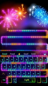 Neon Night Fireworks Keyboard screenshot 2