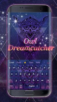 Owl dreamcatcher keyboard poster