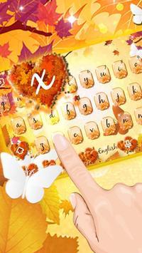 Autumn keyboard theme poster