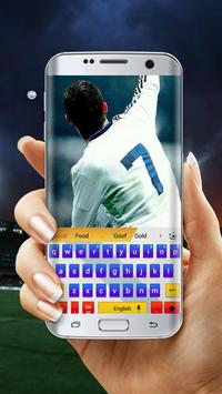 Football keyboard Cool Madrid poster