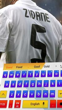 Football keyboard Cool Madrid apk screenshot
