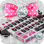 Silver Diamond Bow Keyboard icon