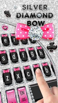 Silver Diamond Bow Keyboard poster