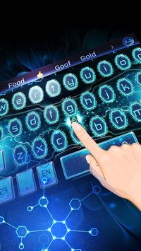 Blue tech science keyboard apk screenshot