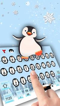 Cute cartoon penguin baby keyboard apk screenshot