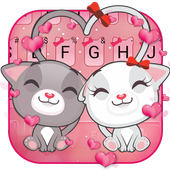Cute Kitty Love Keyboard Theme icon