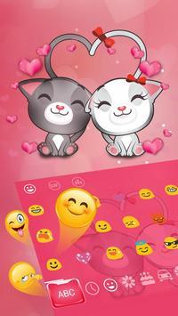 Cute Kitty Love Keyboard Theme apk screenshot