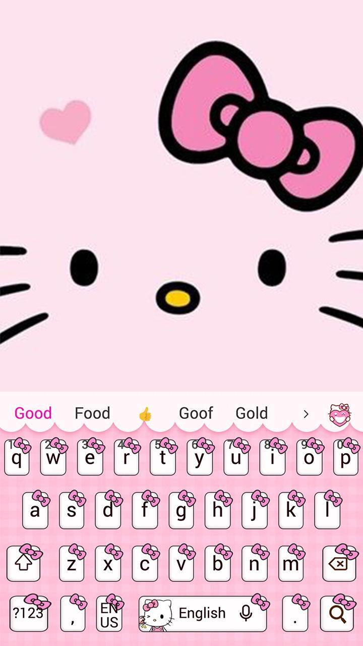 Pink Cute Kitty Cartoon Keyboard Theme For Android APK