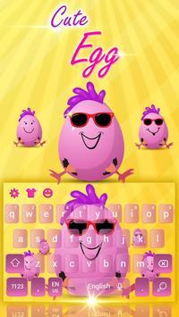 Cute Funny Egg Cartoon Keyboard Theme screenshot 3