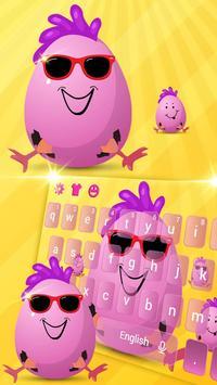 Cute Funny Egg Cartoon Keyboard Theme poster