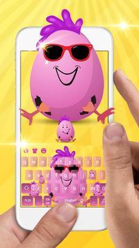 Cute Funny Egg Cartoon Keyboard Theme screenshot 1