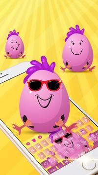 Cute Funny Egg Cartoon Keyboard Theme screenshot 2