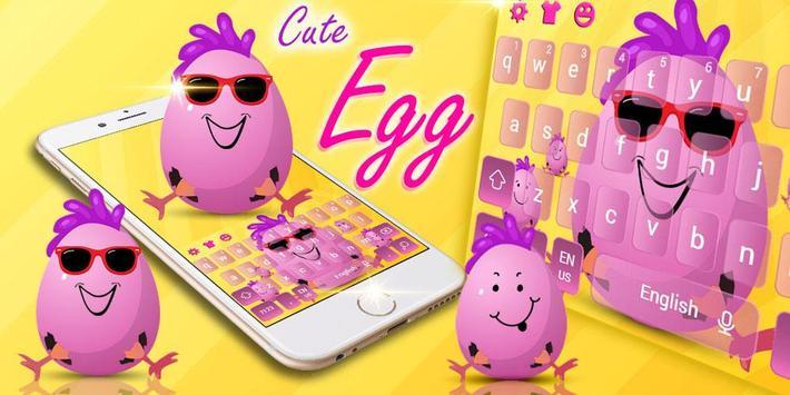 Cute Funny Egg Cartoon Keyboard Theme screenshot 4