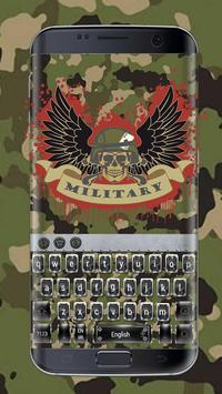Military camouflage skull keyboard poster