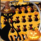 Halloween night pumpkin Keyboard icon
