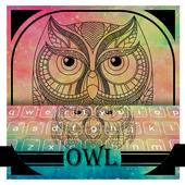 Pastel Galaxy Owl keyboard Theme icon
