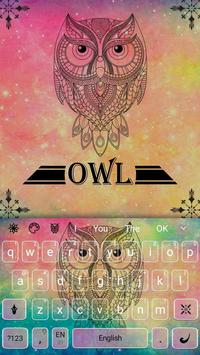 Pastel Galaxy Owl keyboard Theme screenshot 3