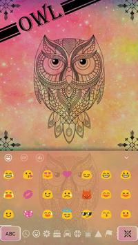 Pastel Galaxy Owl keyboard Theme apk screenshot