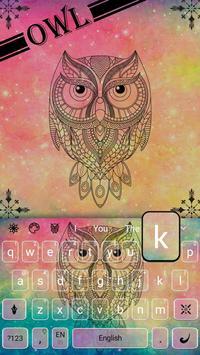 Pastel Galaxy Owl keyboard Theme screenshot 2