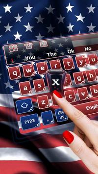 American Flag Keyboard Theme poster