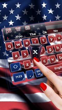 American Flag Keyboard poster