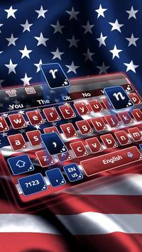 American Flag Keyboard Theme apk screenshot