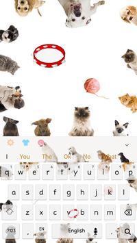Love kitty dog keyboard theme poster