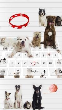 Love kitty dog keyboard theme screenshot 2