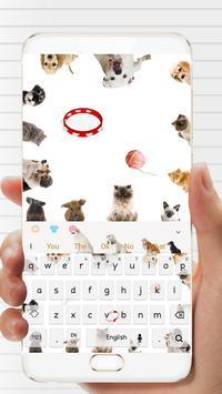 Love kitty dog keyboard theme apk screenshot