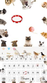 Love kitty dog keyboard theme screenshot 6
