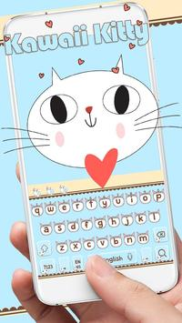 Cute Kitty Keyboard poster