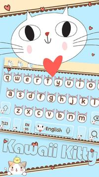 Cute Kitty Keyboard apk screenshot