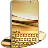 Gold Keyboard for Mate10 icon