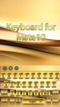 Gold Keyboard for Mate10 screenshot 3