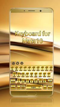 Gold Keyboard for Mate10 poster