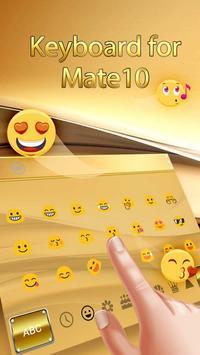 Gold Keyboard for Mate10 screenshot 1