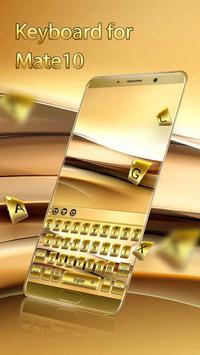 Gold Keyboard for Mate10 screenshot 2