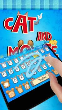 Cat and Mouse keyboard theme poster